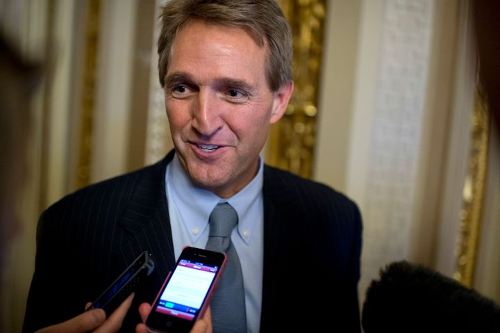 """Sen. Jeff Flake (R-Ariz.) called GOP presidential candidate Donald Trump's comments on Muslims""""positively awful."""""""
