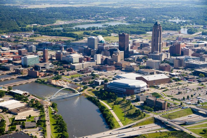 City of Des Moines in summer.