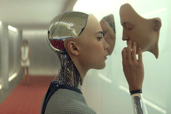 "Alex Garland's directorial debut is the work of a burgeoning master. ""Ex Machina"" creeps up on you like a sunset, fading to d"