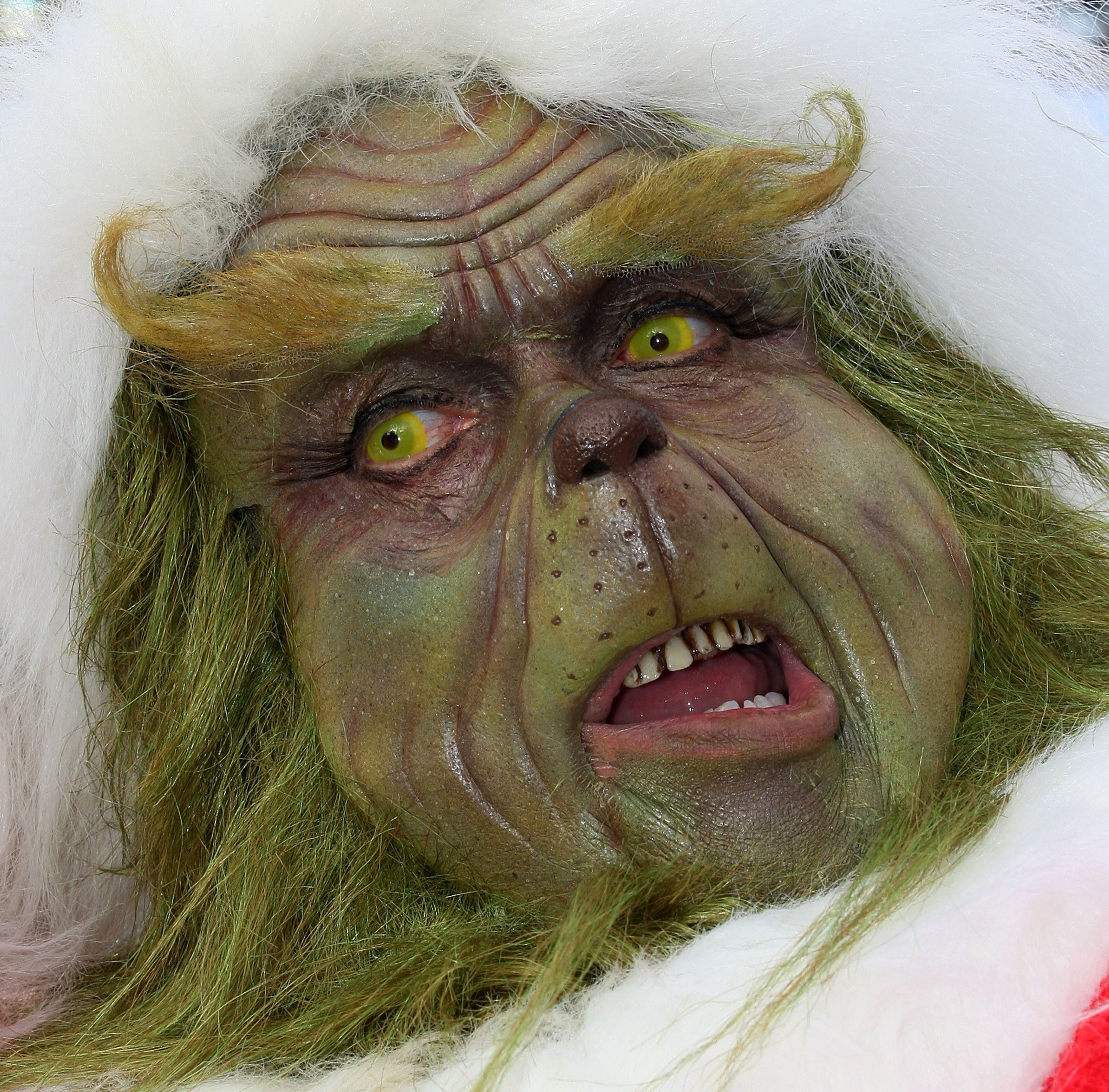 UNIVERSAL CITY, CA - DECEMBER 17: The Grinch, a Universal Studios character, launches the '13 Days of Grinchmas' on December 17, 2009 in Universal City, California.  (Photo by Frederick M. Brown/Getty Images)