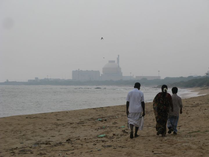 Strolling down the beach from Idinthakarai village towards the Kudankulam power station, Udayakumar discusses the villagers'