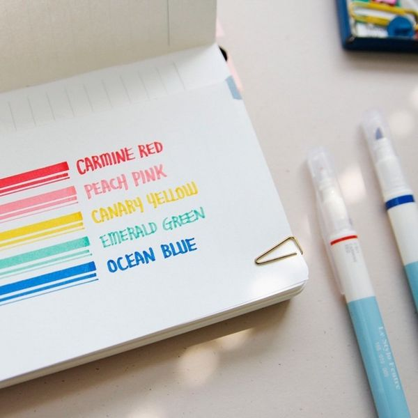 These adorable double-sided Poketo pens make it easy to fill in big areas or small ones. You can get a set in five bold, unmu