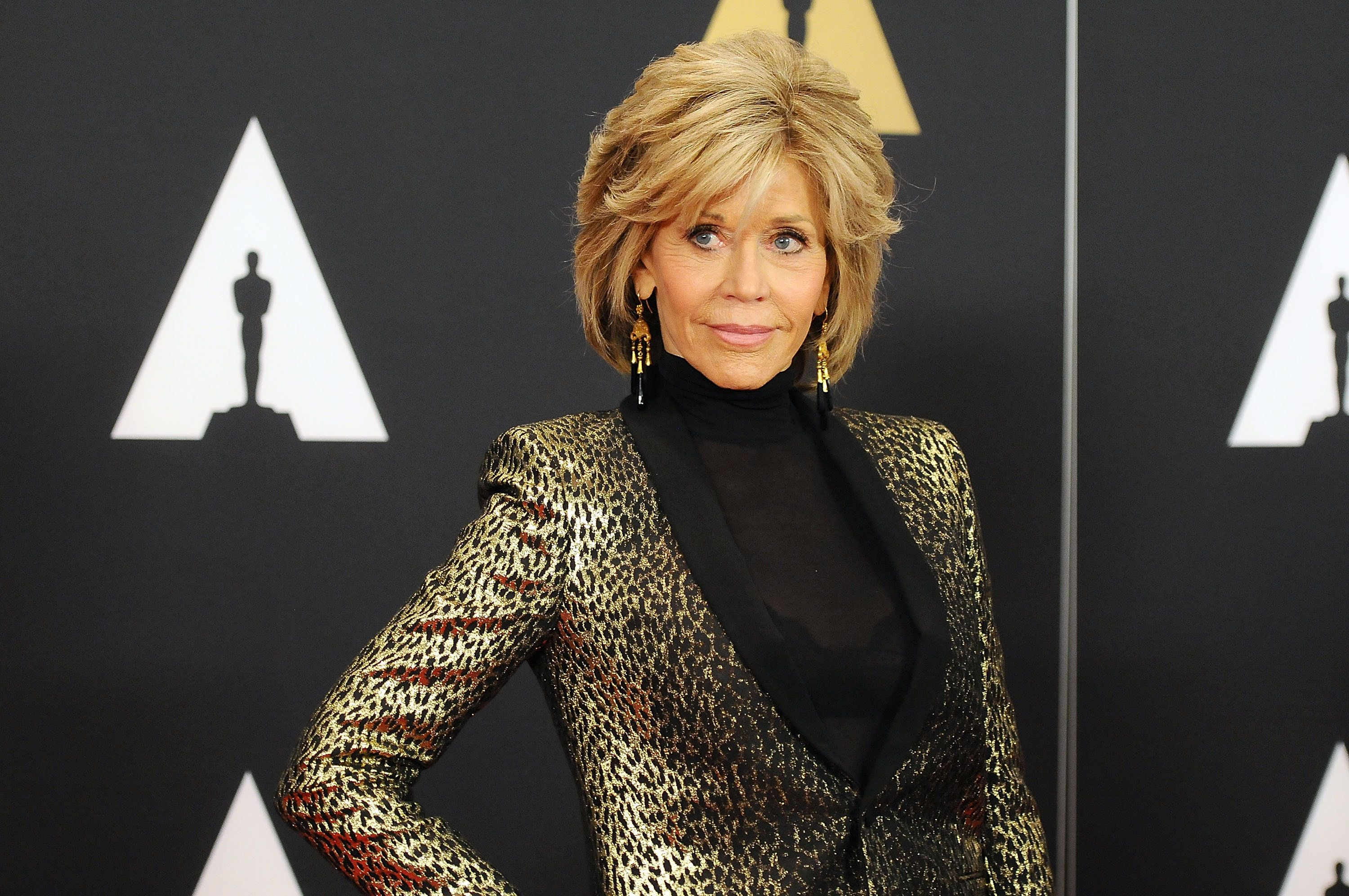 HOLLYWOOD, CA - NOVEMBER 14:  Jane Fonda attends the Academy of Motion Picture Arts and Sciences' 7th Annual Governors Awards at The Ray Dolby Ballroom at Hollywood & Highland Center on November 14, 2015 in Hollywood, California.  (Photo by Araya Diaz/WireImage)