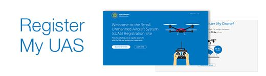 A mockup of the FAA's forthcoming recreational drone registration website.