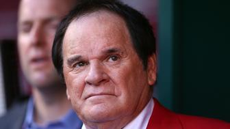 CINCINNATI, OH - JULY 14:  Former player and manager Pete Rose looks on prior to the 86th MLB All-Star Game at the Great American Ball Park on July 14, 2015 in Cincinnati, Ohio.  (Photo by Elsa/Getty Images)