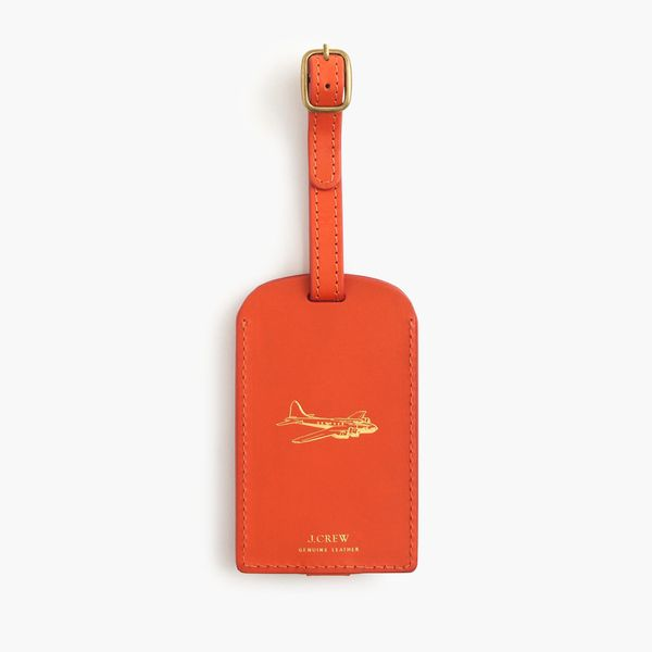 """Leather Luggage Tag, $22 at <a href=""""https://www.jcrew.com/mens_category/accessories/necessaryextras/PRD~E6525/E6525.jsp?Nbrd"""