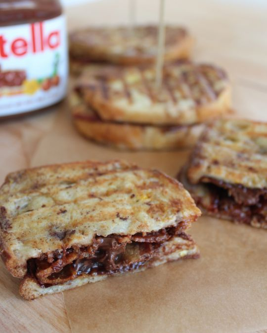 "<strong>Get the <a href=""http://whitneybond.com/2012/12/10/whats-for-brunch-nutella-bacon-french-toast-panini/"">Nutella Bacon"