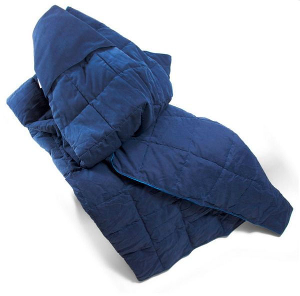 """Convertible Travel Blanket, $39.99 at <a href=""""http://www.brookstone.com/convertible-down-travel-blanket/810911p.html"""" target"""