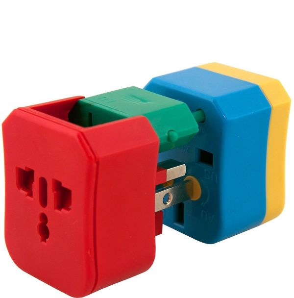 """4-in-1 Universal Travel Adapter, $25 at <a href=""""http://www.flight001.com/adapters-29/f1-4-in-1-adapter.html"""" target=""""_blank"""""""