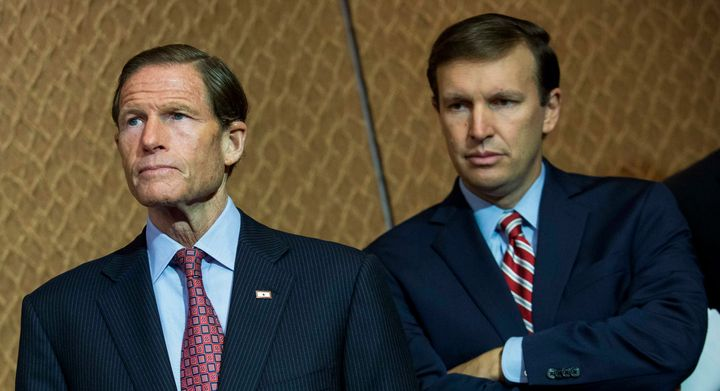Sens. Richard Blumenthal and Chris Murphy were trying to push legislation giving the FBI more time to complete back