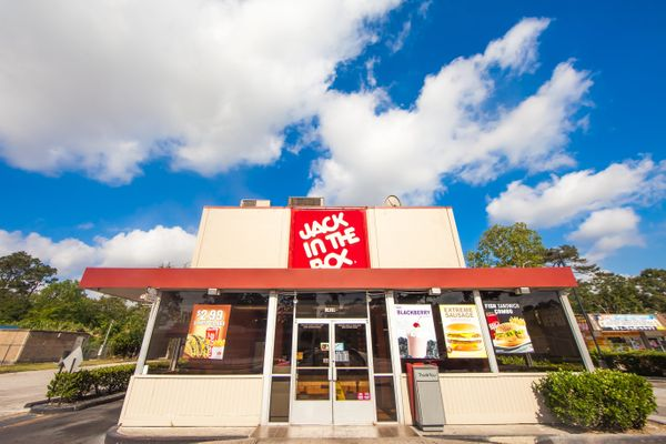 "Per an announcement in November, Jack in the Box is aiming to use mostly cage-free eggs by 2020, and <a href=""http://www.eate"
