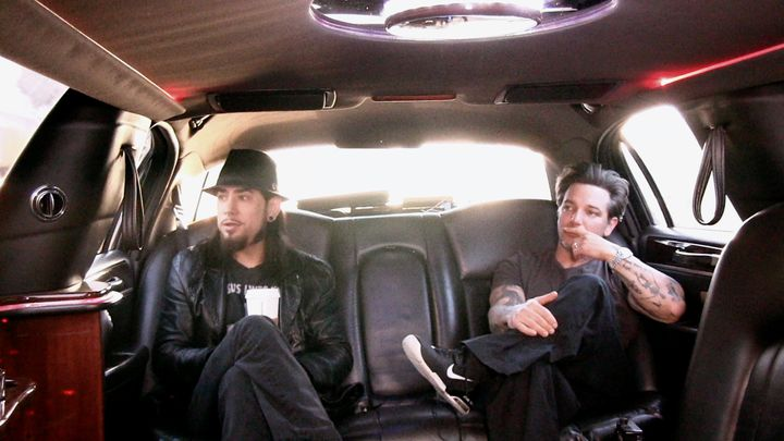 "Dave Navarro with his best friend and director of ""Mourning Son,"" Todd Newman, during the making of the film."