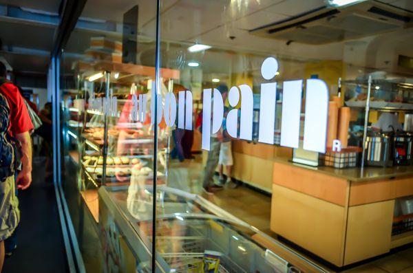 "Au Bon Pain has <a href=""http://www.fastcasual.com/news/au-bon-pain-phasing-out-pork-suppliers-using-gestational-crates/"" tar"