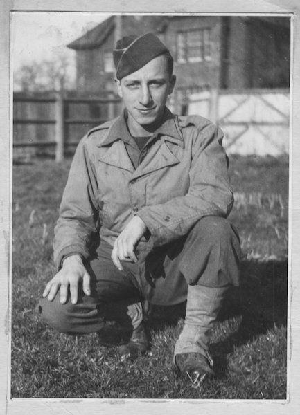 Army days, Tidworth, England, 1944.