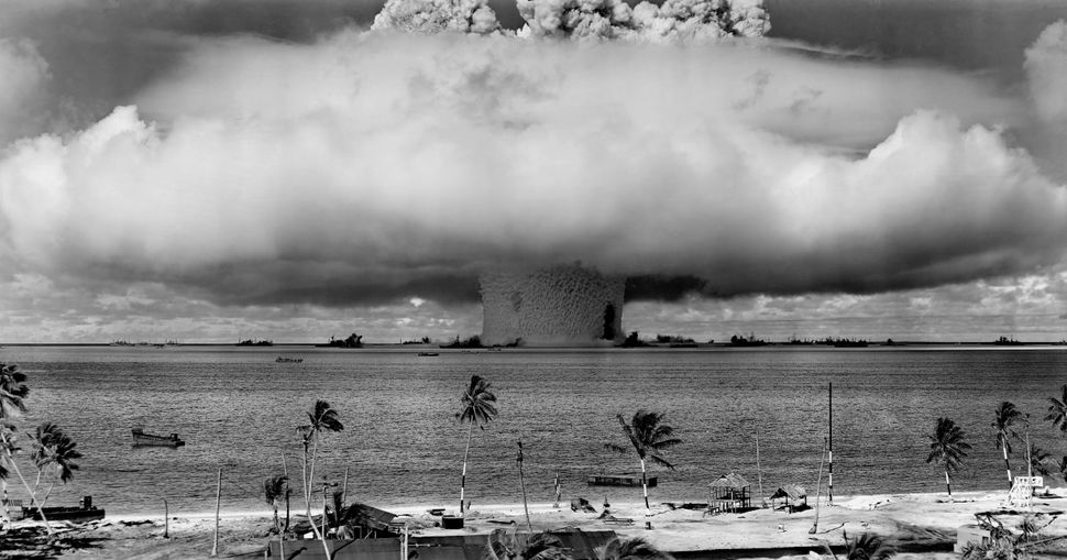 "The ""Baker"" explosion, part of Operation Crossroads, at Bikini Atoll, 1946."