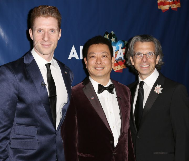 """The """"Allegiance"""" team: Lorenzo Thione, Jay Kuo and Marc Acito."""