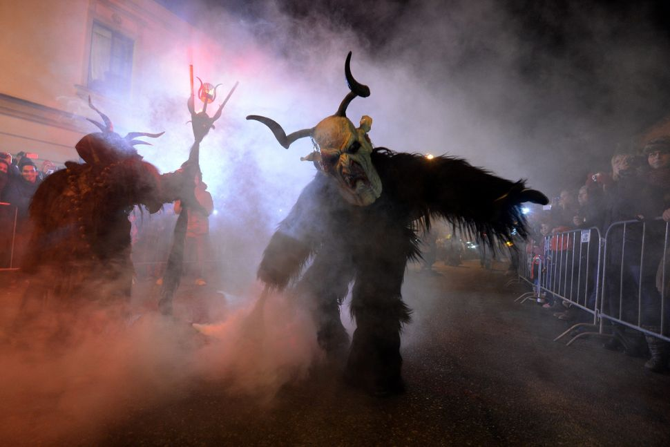 Krampuses on parade in the Czech Republic.