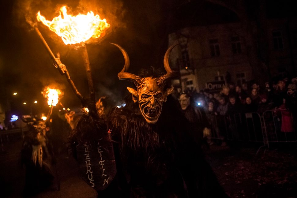 Revelers dress as Krampus at a festival in Kaplice, Czech Republic.