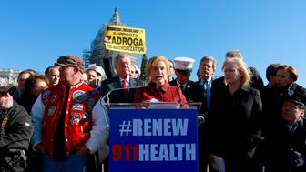 Rep. Carolyn Maloney speaks at a rally last week for a new 9/11 bill.