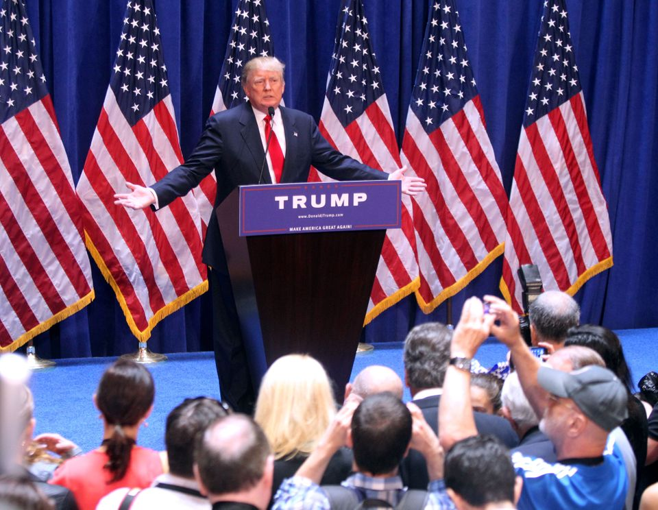 On June 16, 2015, Trump declares that he will run for presidential office in 2016, from Trump Tower, in New York Ci