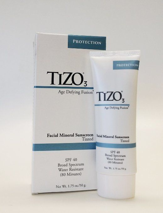 "TiZO3 Facial Mineral Sunscreen SPF 40, $32.99 at <a href=""http://www.amazon.com/Solar-Protection-Tizo3-SPF-40/dp/B00BB8MLCA/?"