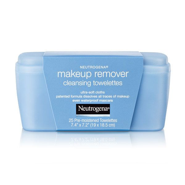 "Makeup Remover Cleansing Towelettes, $6.99 at <a href=""http://www.neutrogena.com/product/makeup+remover+cleansing+towelettes+"