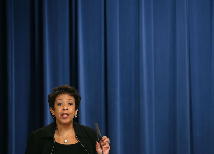 Attorney General Loretta Lynch announces the new guidance at the Justice Department.
