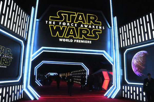 """""""Star Wars: The Force Awakens"""" premieres on Dec. 14, 2015, in Hollywood."""