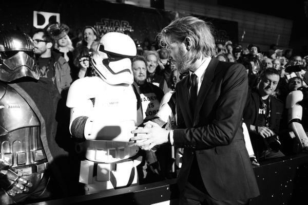 """Actor Domhnall Gleeson attends the premiere of """"Star Wars: The Force Awakens"""" on Dec. 14, 2015, in Hollywood."""