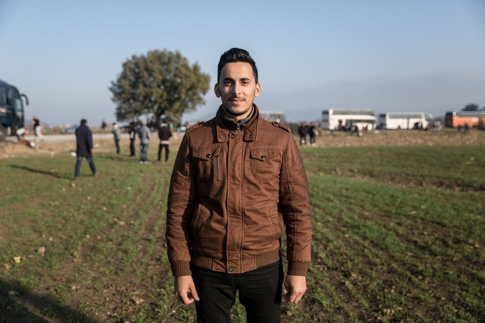 Mohammed Suleiman, 25, is from Syria, which makes himeligible to cross the border.