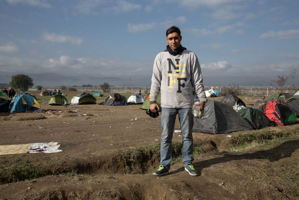 Ali, 21, left Tehran to pursue his dream of becoming a boxer. Now, he's stuck in Idomeni.
