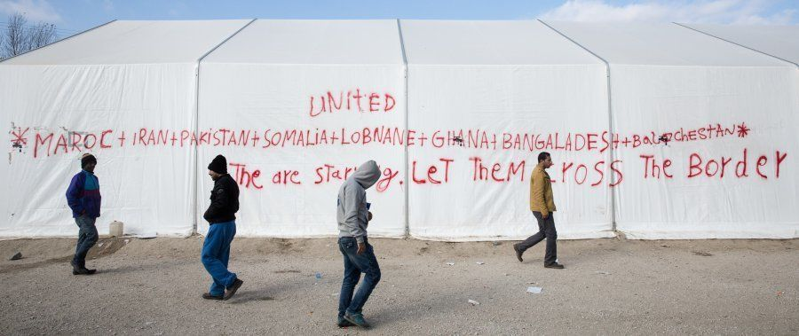 The Greek government's presence in Idomeni is minimal.