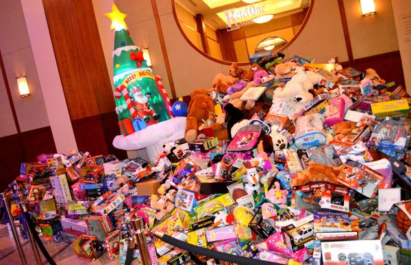 Thousands of donated toys
