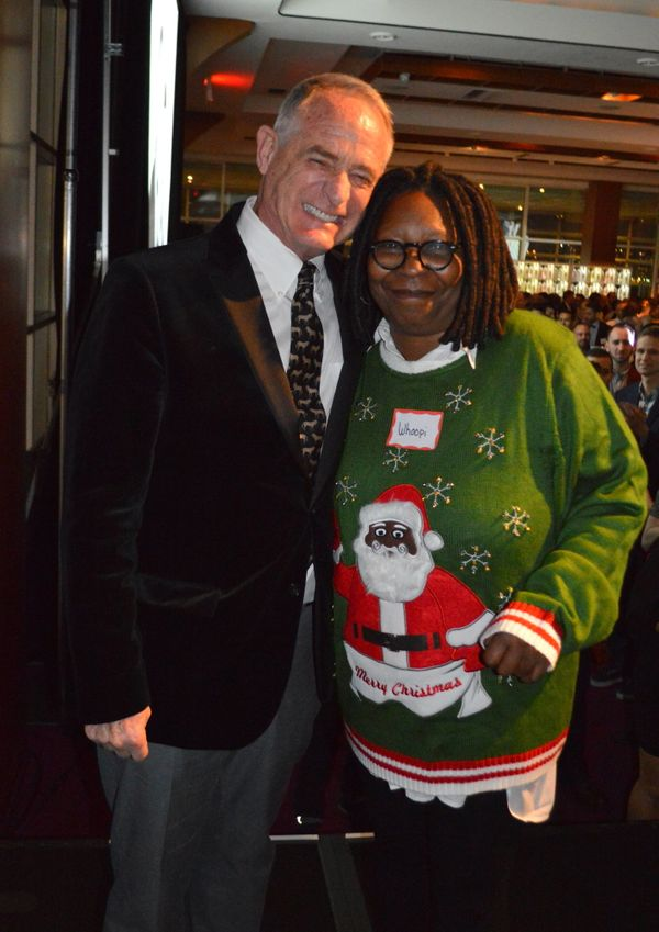 Toys Party co-host Robby Browne with Whoopi Goldberg