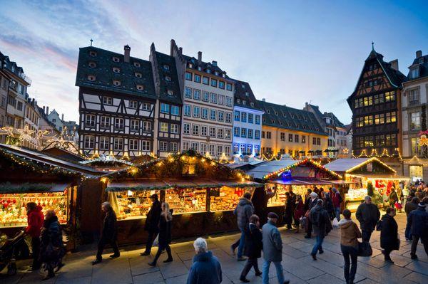 "Founded in 1570, Strasbourg's Christmas market is a <a href=""http://noel.tourisme-alsace.com/en/strasbourg-oldest-christmas-m"
