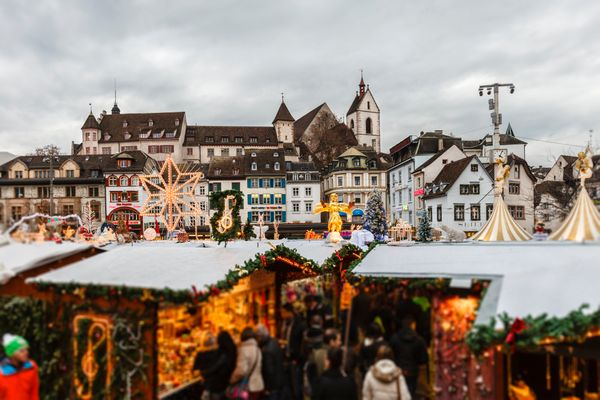 """Close your eyes and imagine the most perfect, snowy Christmas scene. Good news! That <a href=""""http://www.baslerweihnacht.ch"""">"""