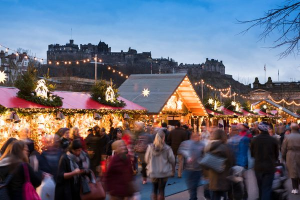 """There are a few markets to see in Edinburgh but the one in <a href=""""http://www.visitscotland.com/en-us/see-do/events/winter-f"""