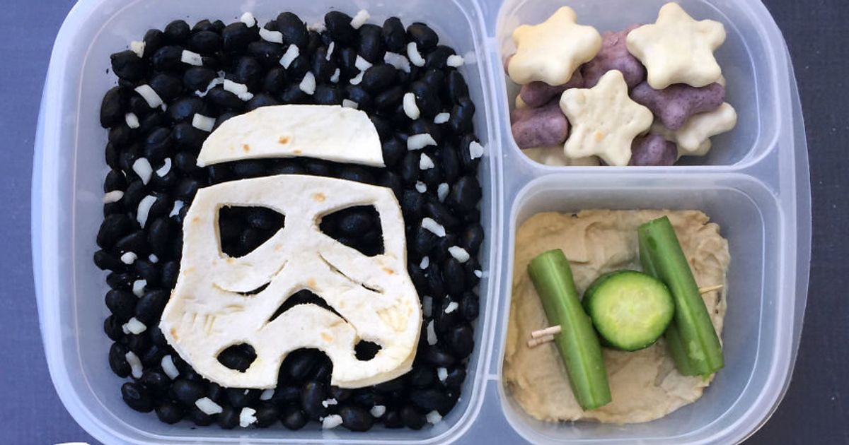 dad makes awesome star wars themed lunches for his kids. Black Bedroom Furniture Sets. Home Design Ideas