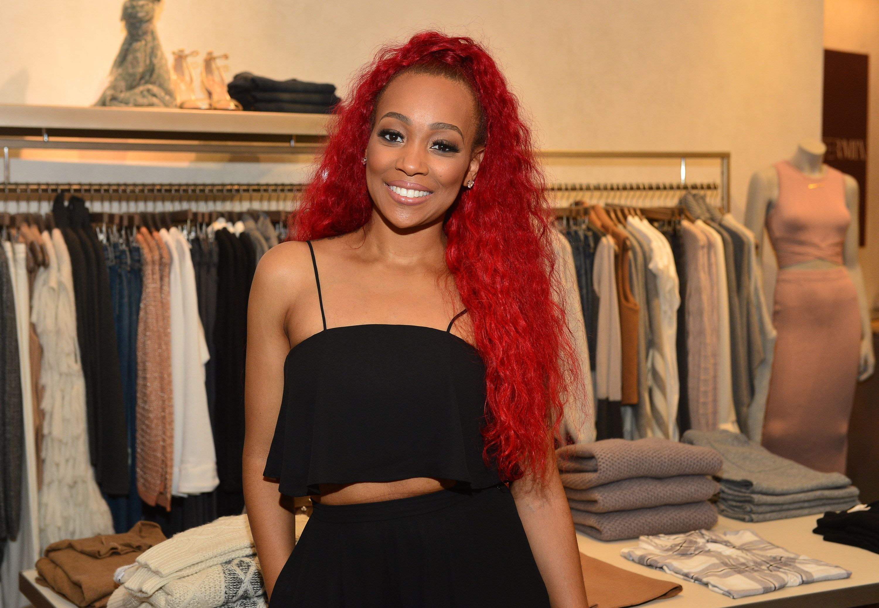 ATLANTA, GA - OCTOBER 22: (EXCLUSIVE COVERAGE)   Monica Brown attends Unspoken Angels Charity Event For Domestic Violence Awareness Month at Intermix Buckhead on October 22, 2015 in Atlanta, Georgia.  (Photo by Prince Williams/WireImage)