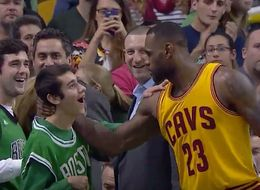 LeBron James Shows Respect To Special Olympics MVP During Game