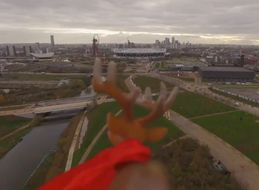 Dad's Reindeer Drone Perfectly Tackles Son's Christmas Fears