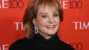 NEW YORK, NY - APRIL 21:  TV personality Barbara Walters attends the 2015 Time 100 Gala at Frederick P. Rose Hall, Jazz at Lincoln Center on April 21, 2015 in New York City.  (Photo by Taylor Hill/Getty Images)