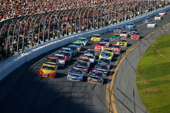 "Drivers race at the Daytona 500 in Daytona Beach, Florida, in February. The so-called ""NASCAR tax break "" applies t"