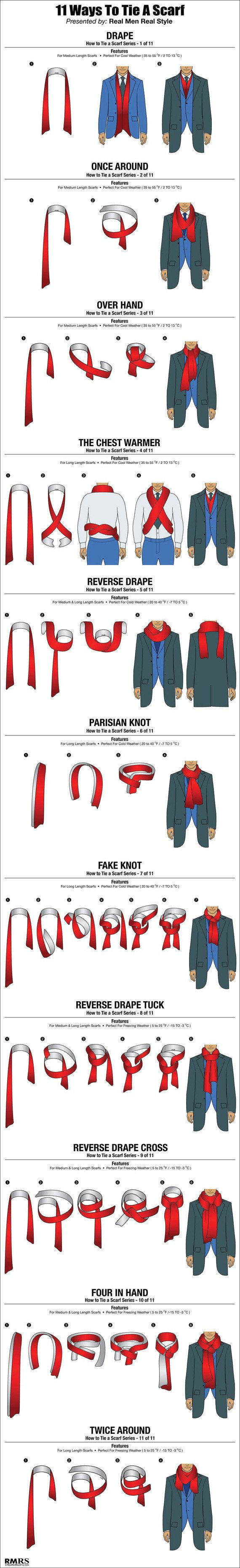 Here are 11 ways a guy can tie his scarf huffpost courtesy ccuart Choice Image