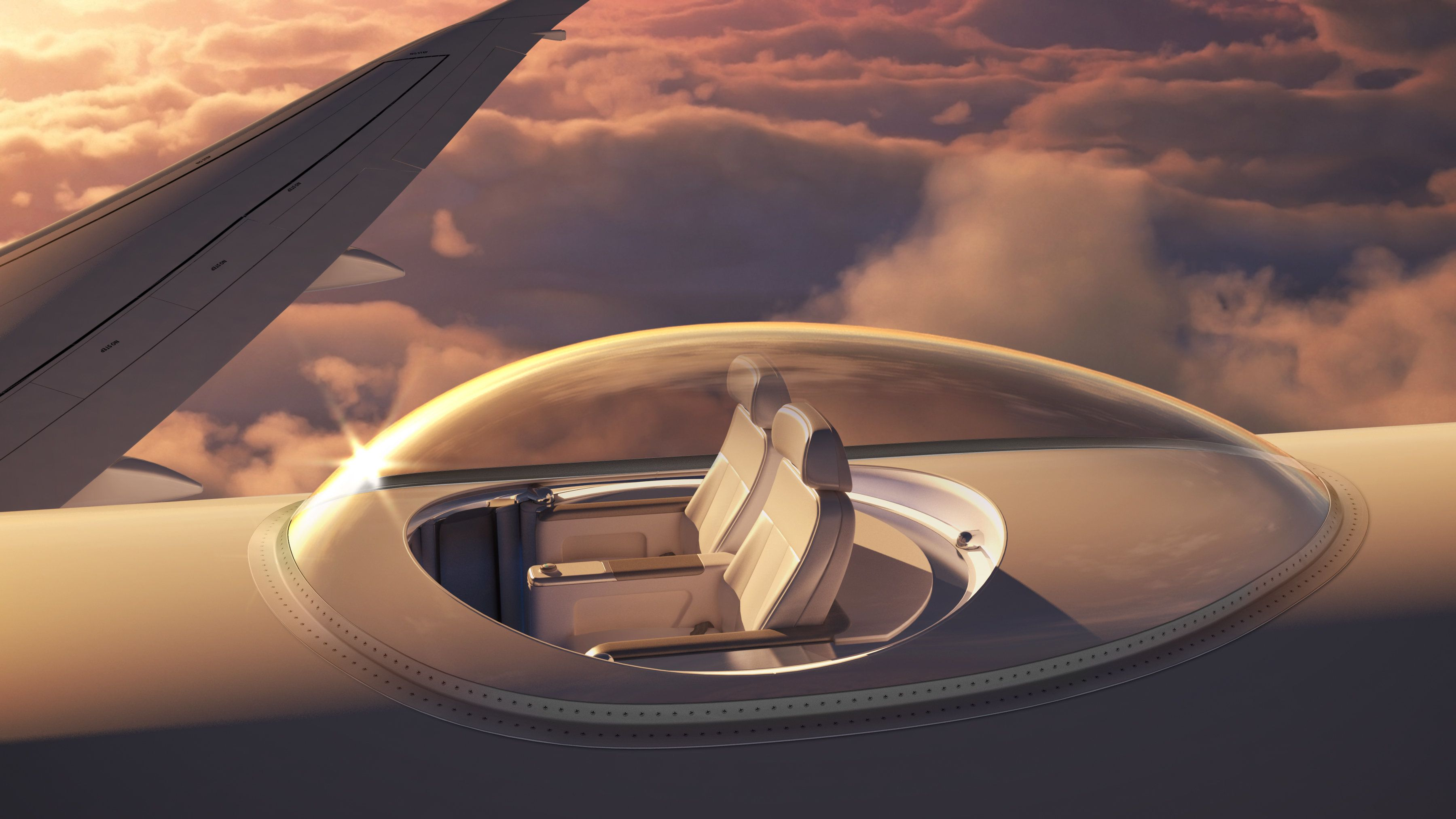 天空を360度見渡せる飛行機のシート「SkyDeck」がすごい(画像・動画)