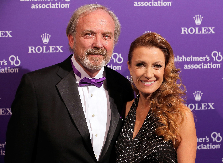 Actress Jane Seymour with ex-husband James Keach