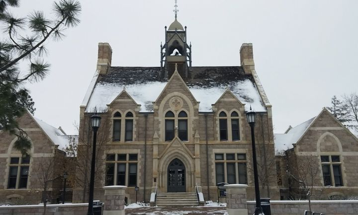 Colorado College - Cutler Hall in Colorado Springs. The school suspended junior Thaddeus Pryor over a comment he made on an a