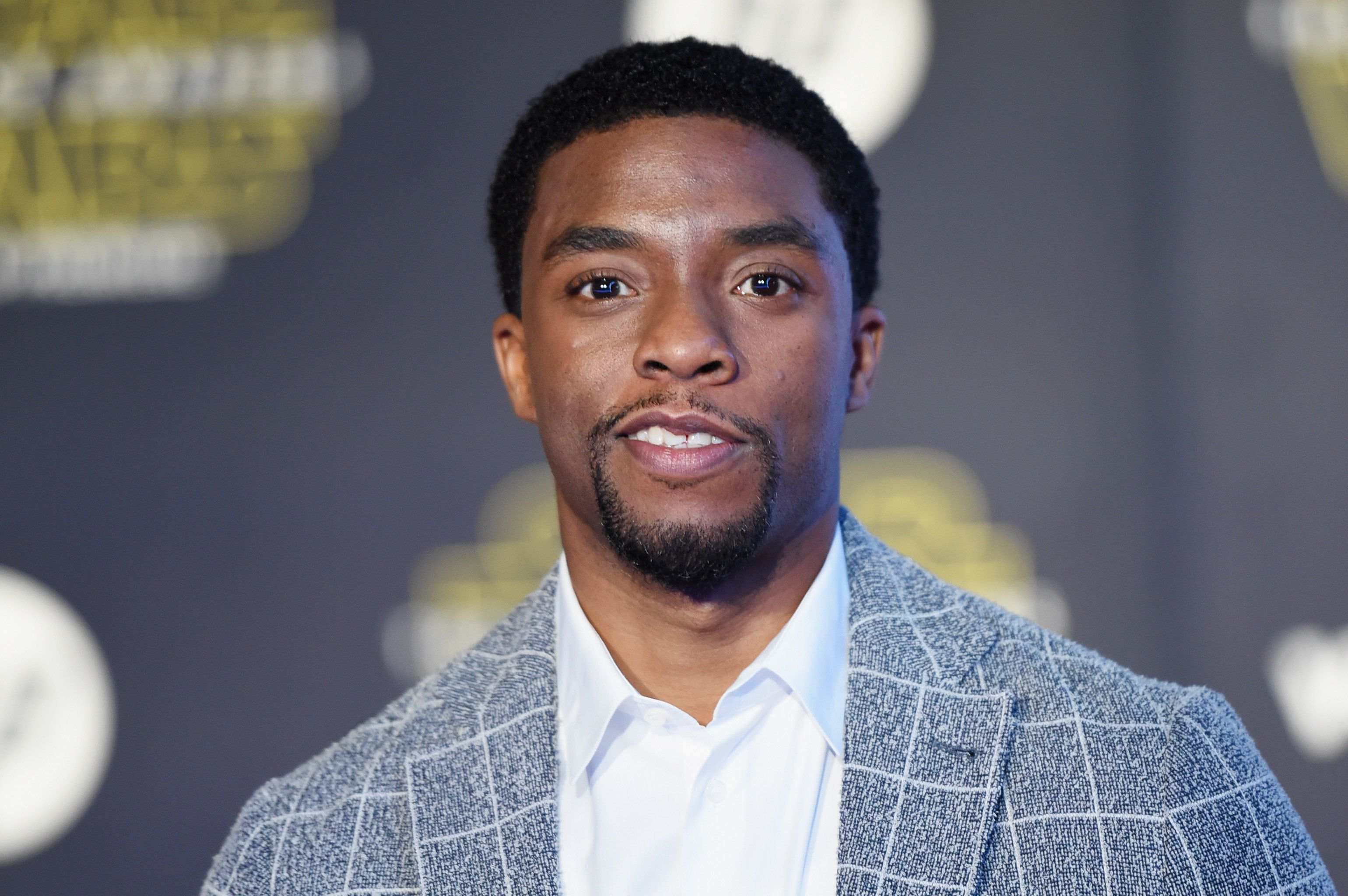 HOLLYWOOD, CA - DECEMBER 14:  Actor Chadwick Boseman attends the Premiere of Walt Disney Pictures and Lucasfilm's 'Star Wars: The Force Awakens' on December 14, 2015 in Hollywood, California.  (Photo by Jason Merritt/Getty Images)