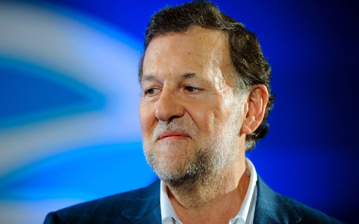 A teenager punched Spanish Prime Minister and Popular Party leader Mariano Rajoy during a campaign tour in Pontevedra, Spain,