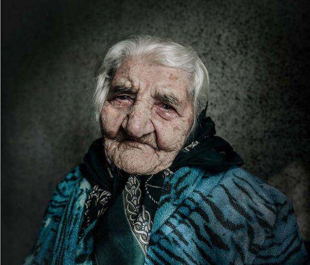 A portrait of 110-year-old Armenian genocide survivor Yepraksia Gevorgyan. (Photo copyright: Diana Markosian)